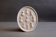 Relief oval mit Portaits preussi...